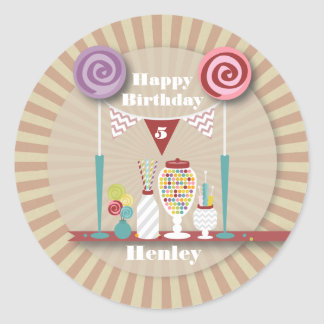 Candy Buffet Birthday Sticker
