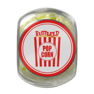 Candy Buffet Buttered Popcorn Glass Candy Jars