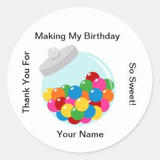 Candy Buffet Gumball Jar Sticker