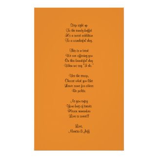 Candy buffet poem poster