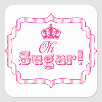 Candy Buffet Princess Party Favor Birthday Sticker