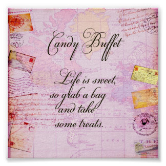 Candy Buffet Sign Poster
