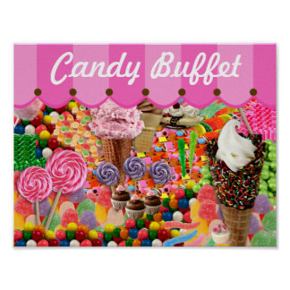 Candy Buffet Stripe Canopy Wedding Poster Sign  sc 1 st  Zazzle & Candy Buffet Posters | Zazzle