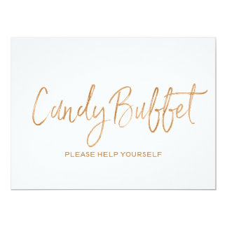 """Candy buffet"" Wedding Sign 