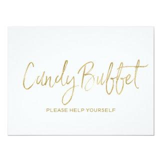 """Candy buffet"" Wedding Sign | Stylish Golden Card"