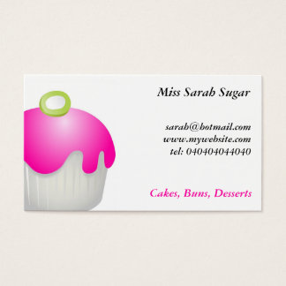 Candy Buns, Miss Sarah Sugar, Business Card