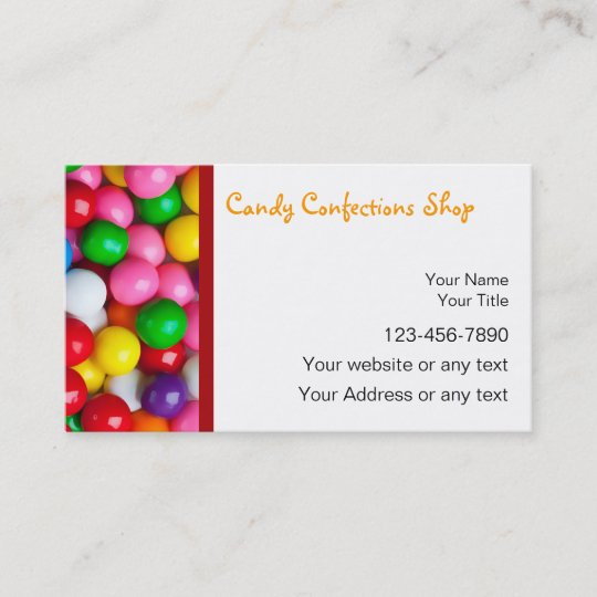 Candy business cards zazzle candy business cards colourmoves