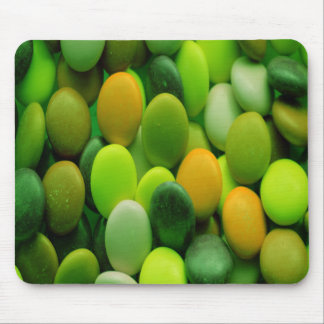Candy Buttons green Mouse Pad