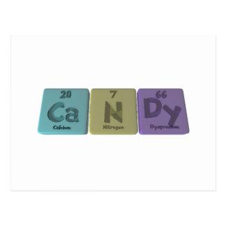 Candy-Ca-N-Dy-Calcium-Nitrogen-Dysprosium.png Tarjetas Postales