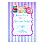 Candy Cake And Pastry Sweet Sleepover Party Invite