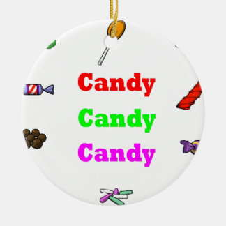 candy candy candy ceramic ornament
