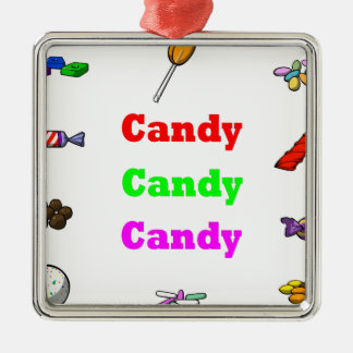 candy candy candy metal ornament