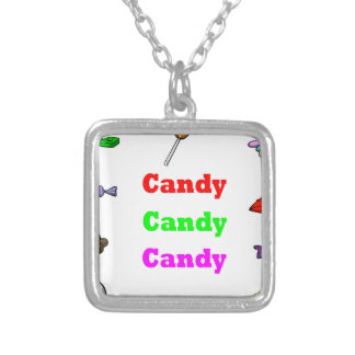 candy candy candy silver plated necklace