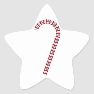 Candy Cane 2 Star Sticker