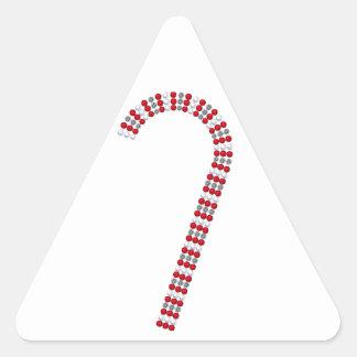 Candy Cane 2 Triangle Sticker