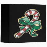 Candy Cane 3 Ring Binder