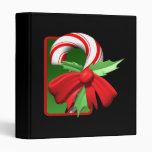 Candy Cane 3 Ring Binders
