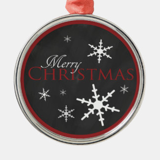 Candy Cane and Chalkboard Christmas Metal Ornament