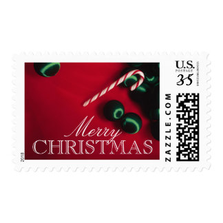 Candy cane and Christmas ornaments Postage