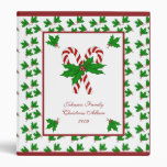 Candy Cane and Holly Binder
