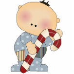 candy cane baby boy 2 photo cut outs