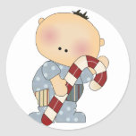 candy cane baby boy 2 stickers