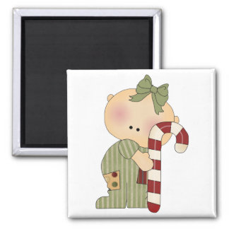 candy cane baby girl 1 2 inch square magnet