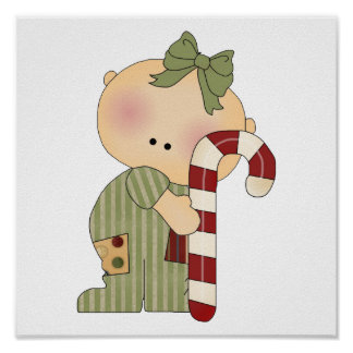 candy cane baby girl 1 posters