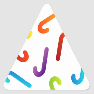 candy cane background triangle stickers