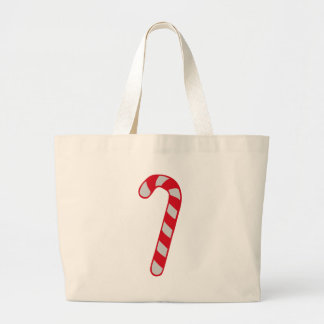Candy cane canvas bag