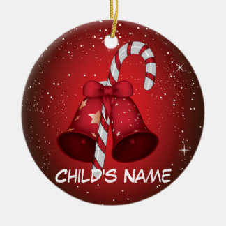 Candy Cane Bells Christmas Tree Ornament