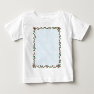 Candy Cane Border Baby T-Shirt