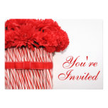 Candy Cane Bouquet Party Invitation