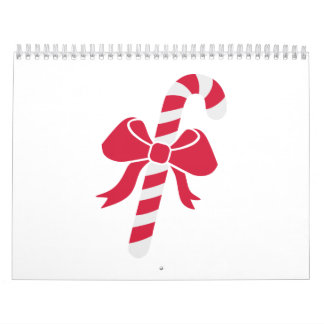 Candy cane bow calendars