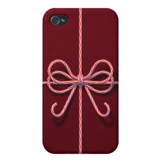 Candy Cane Bow iPhone 4 Case