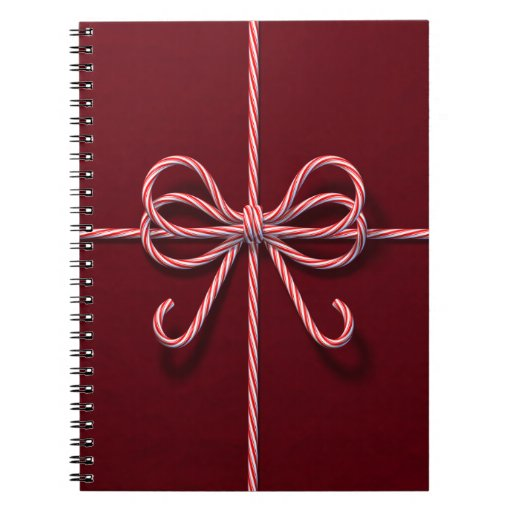 Candy Cane Bow Notebook