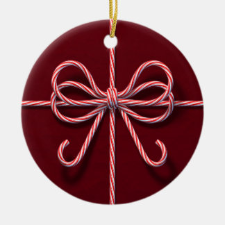 Candy Cane Bow Ornament