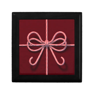 Candy Cane Bow Tile Gift Box