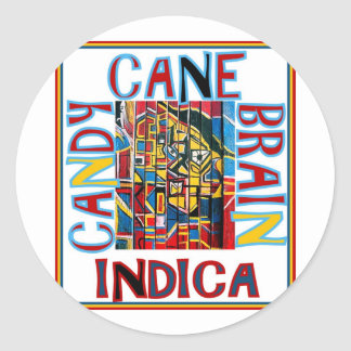 CANDY CANE BRAIN INDICA STICKERS