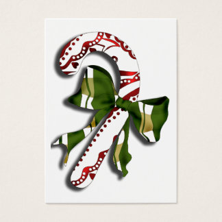 candy Cane Business Card