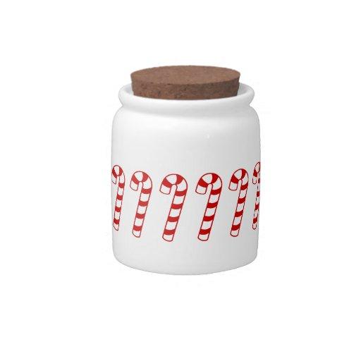 CANDY CANE CANDY JAR