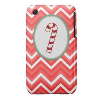 Candy Cane Chevron Iphone 3 case