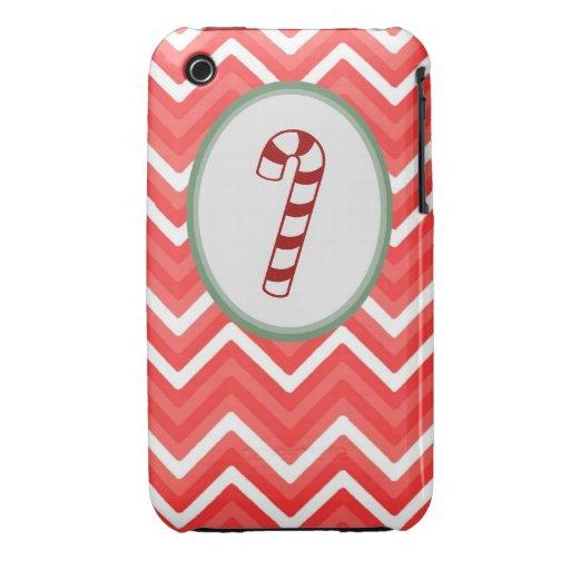 Candy Cane Chevron Iphone 3 case