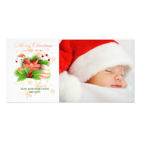 Candy Cane Christmas Arrangement Photo Card