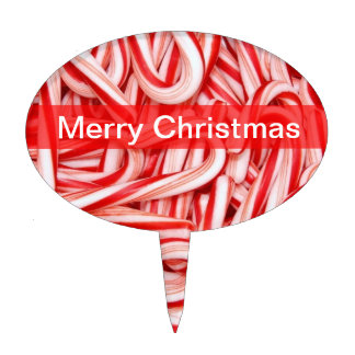 Candy Cane Christmas Cake Toppers Template