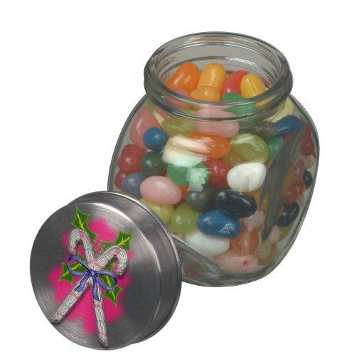 candy cane christmas glass jars