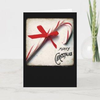 Candy Cane Christmas Card card