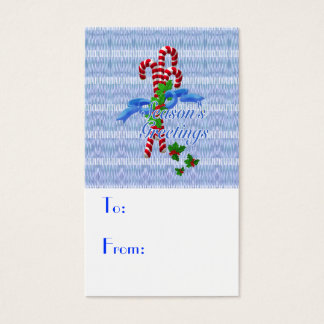Candy Cane Christmas Gift Tags - Business Cards