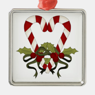 Candy Cane Christmas Heart Ornaments