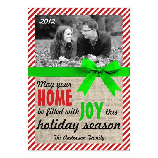 Candy Cane Christmas Holiday Card
